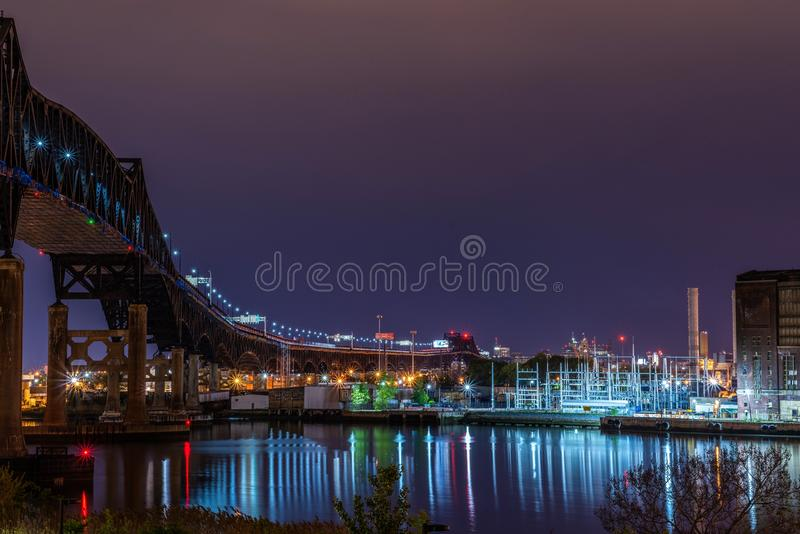 Industrielle Brücke lizenzfreies stockbild