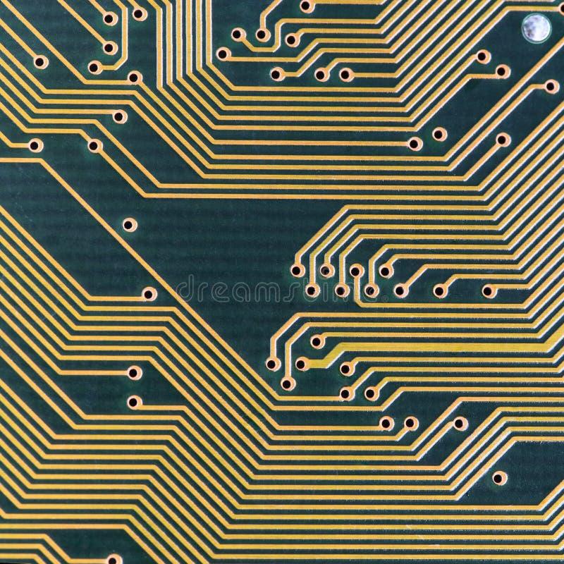 Industrielle elektronische grüne Hightech- Beschaffenheit stockfotografie