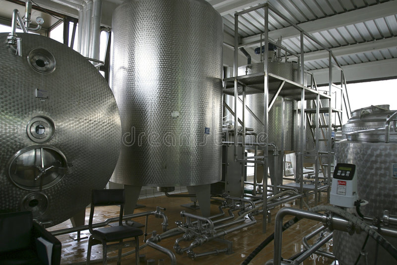 Industrielle flüssige Vorratsbehälter lizenzfreies stockfoto