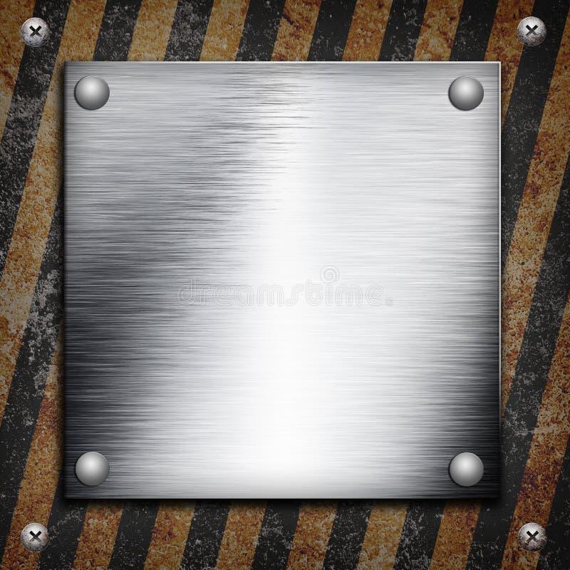 Industrielle grungy Stahlplatte stock abbildung