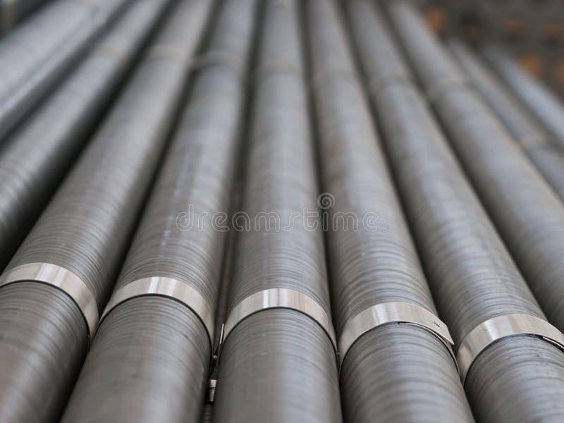 Industrielle Kühlrohre stockfotos