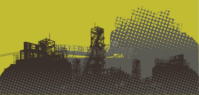 Industrielle Landschaft lizenzfreie abbildung