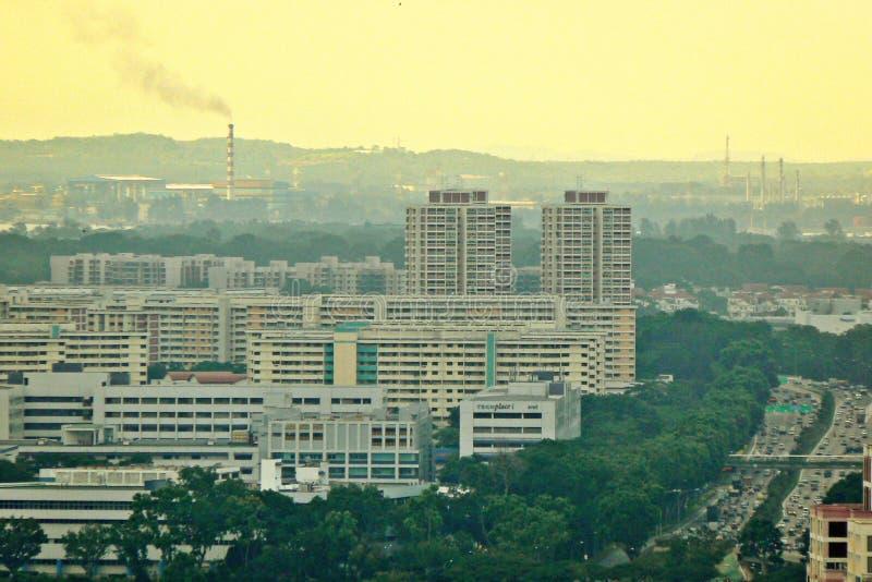 Industrielle Luftverschmutzung - Singapur lizenzfreie stockbilder