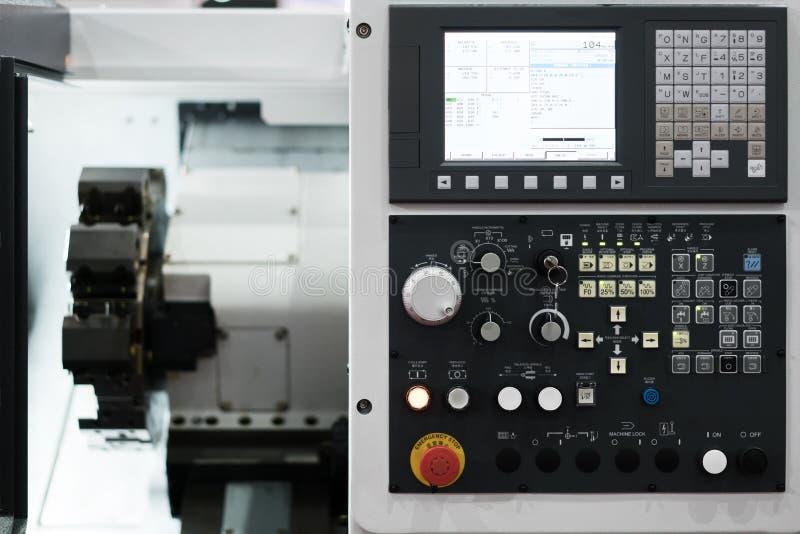 Industrielle Maschinenhightechsteuerung durch PLC-Programmierungsklotz stockfotografie