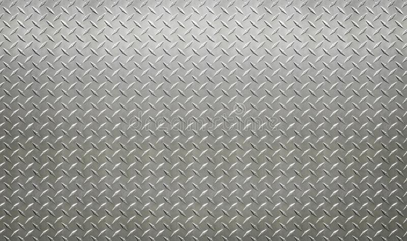 Industrielle Plattenwand des hellfarbigen Edelstahls mit Diamanten lizenzfreie stockfotos