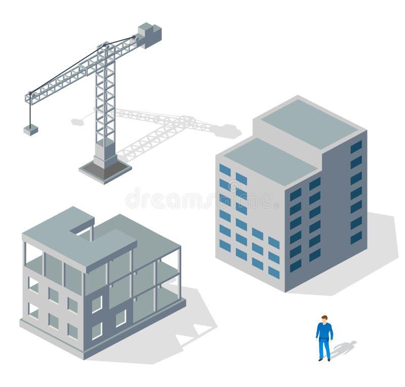 Industrielle Struktur des Kranes vektor abbildung