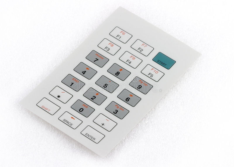 Industrielle Tastatur stockbilder