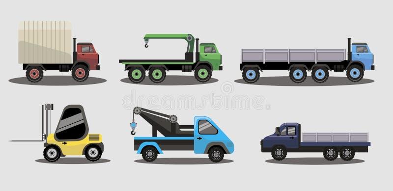 Industrielle Transportfracht-LKWs stockfotos