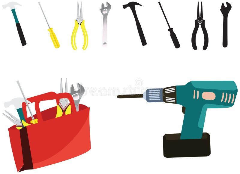 Industrielle Werkzeuge herein vektor abbildung