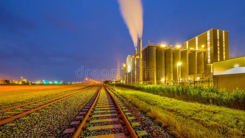 Industrieller chemischer Bereich der Eisenbahn lizenzfreie stockfotografie