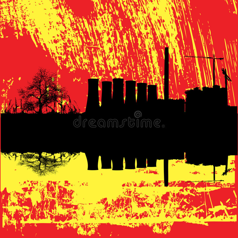 Download Industrieller Grunge Hintergrund Vektor Abbildung - Illustration von abdruck, kamin: 9089372