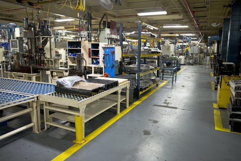 Industrieller Herstellungs-Fabrik-Arbeitsplatz stockfotos