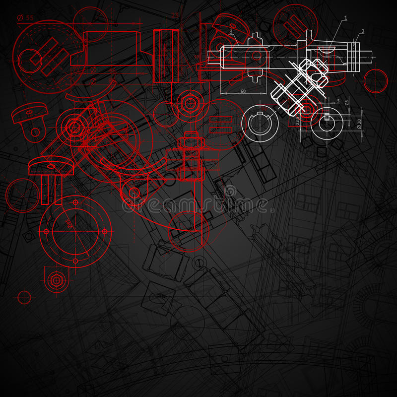 Industrieller Hintergrund vektor abbildung
