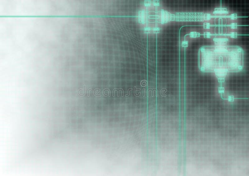 Industrieller Hintergrund stockbild