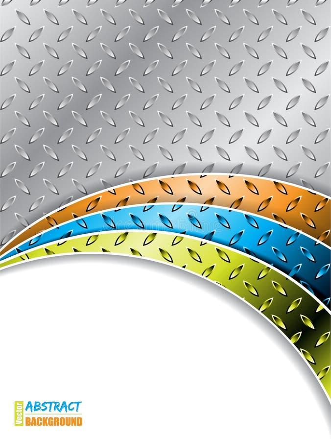 Industrieller Hintergrund mit Farbwellen lizenzfreies stockfoto