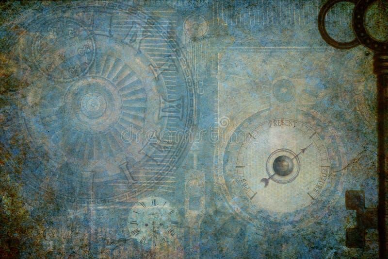 Industrieller Hintergrund Steampunk stockbild