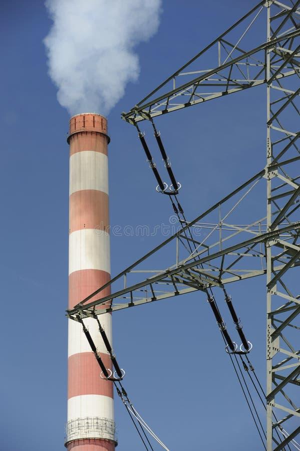 Industrieller Kamin stockfotografie