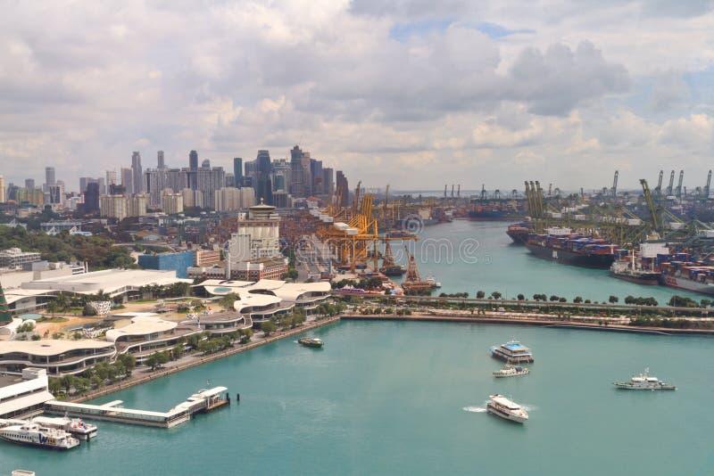 Industrieller Kanal Singapurs stockbild