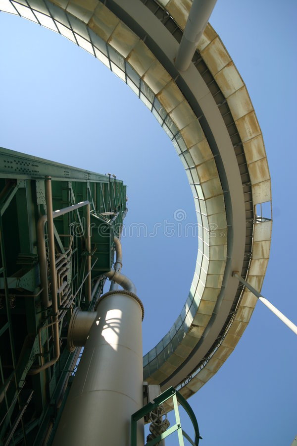 Industrieller Kontrollturm stockbilder