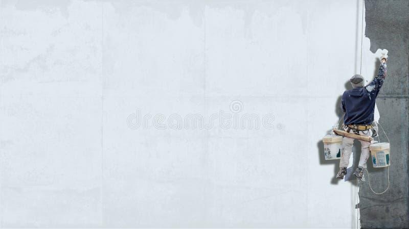 Industrieller Malerweißhintergrund stockfotografie