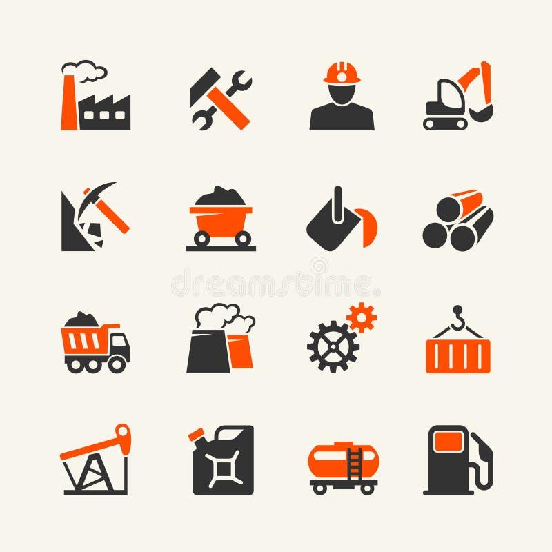 Industrieller Netzikonensatz stock abbildung