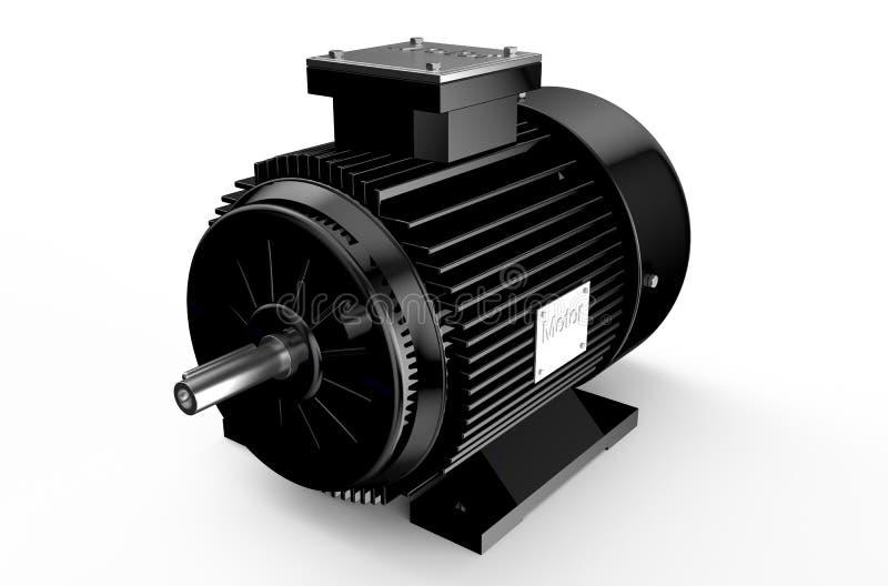 Industrieller schwarzer Elektromotor lizenzfreie abbildung