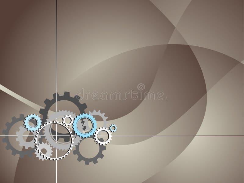 Industrieller Technologie-Hintergrund mit Gängen vektor abbildung
