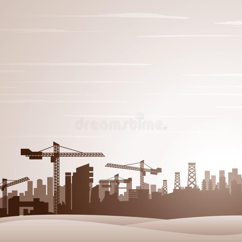 Industrieller Thema-Hintergrund stock abbildung