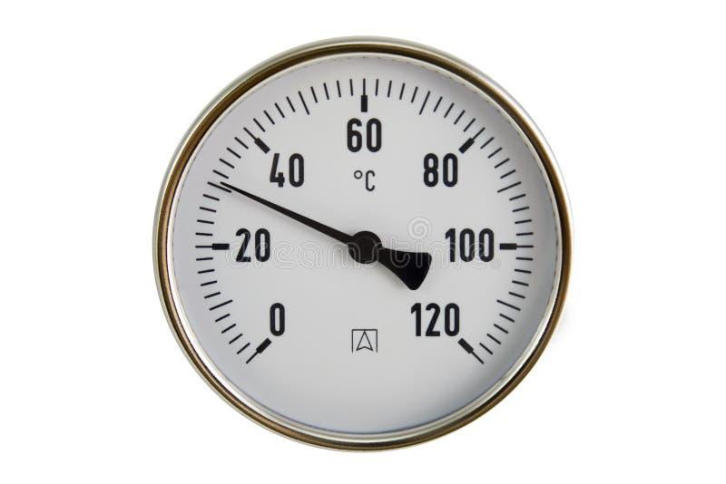 Industrieller Thermometer lizenzfreie stockfotos