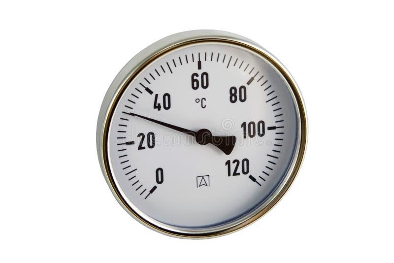 Industrieller Thermometer stockfoto