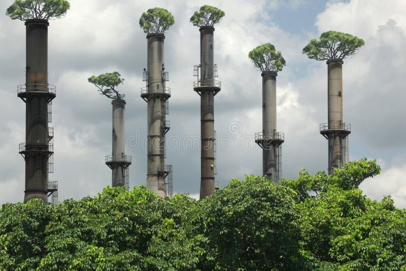Industrieller Wald lizenzfreies stockfoto