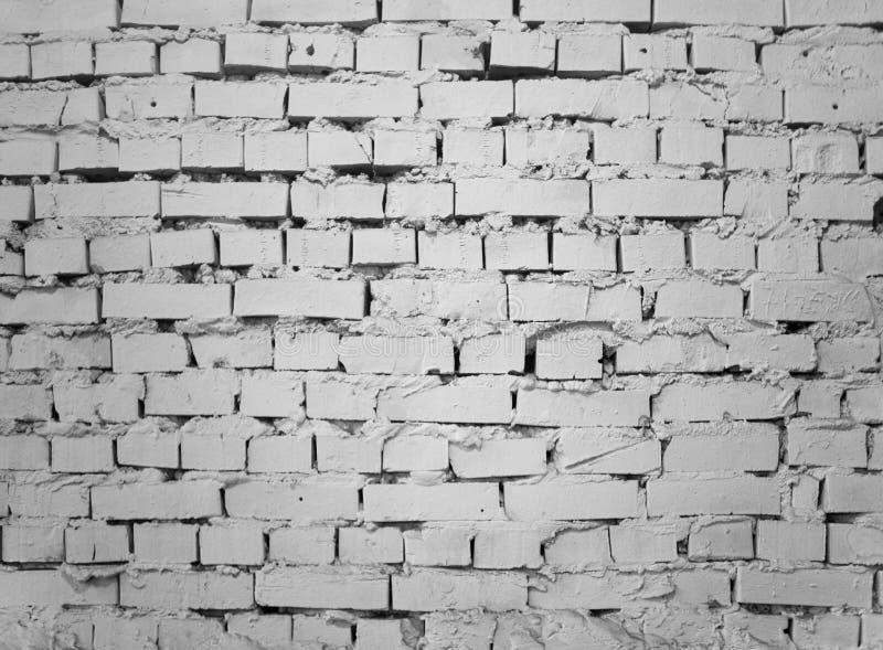 Industrieller weißer Backsteinmauerhintergrund des Schmutzes in Kiew, Ukraine lizenzfreie stockfotografie
