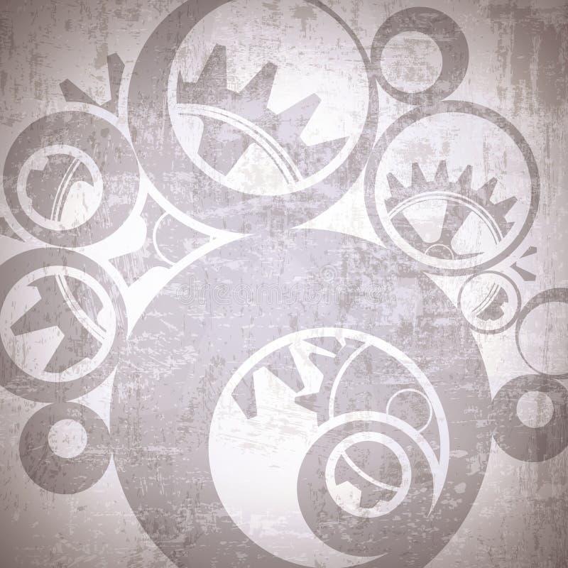 Industrieller Weinlese-Hintergrund lizenzfreie abbildung