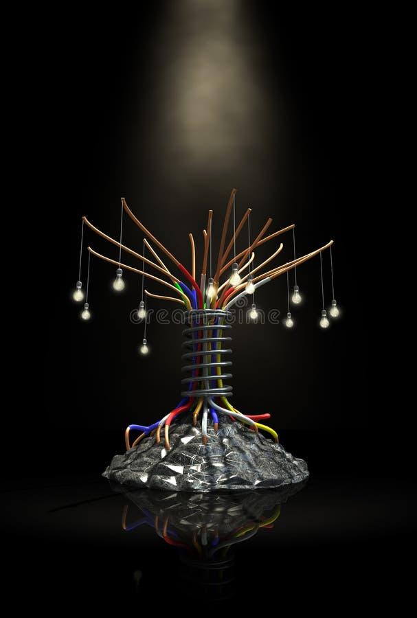 Industrieller zukünftiger Baum lizenzfreie abbildung
