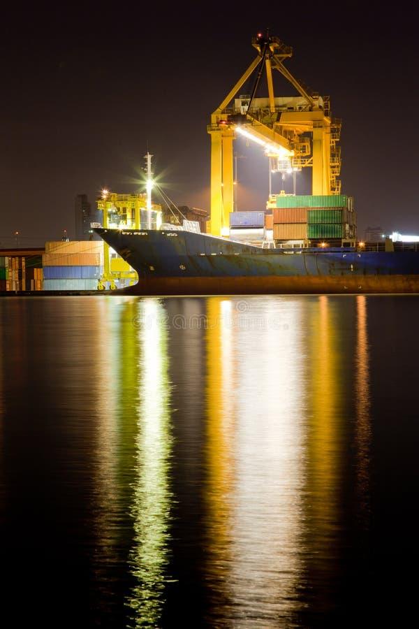Industrielles Behälter-Frachtschiff stockfotografie