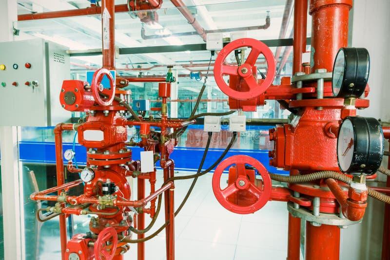 Industrielles Brandschutzsystem stockbilder