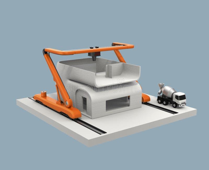 Download Industrielles Hausmodell Des Druckers 3D Druck Stock Abbildung    Illustration Von Erzeugnis, Nachricht: