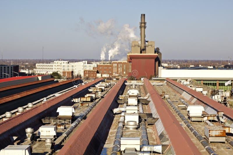 Industrielles Indianapolis stockbilder