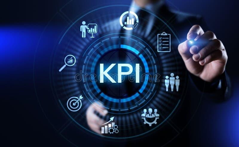 Industrielles Konzept des KPI-Schlüsselleistungs-Indikatorgeschäfts vektor abbildung
