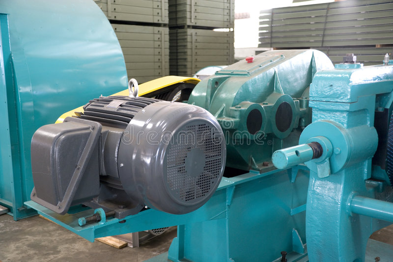 Industrielles Machineries an einer Gießerei stockfotografie