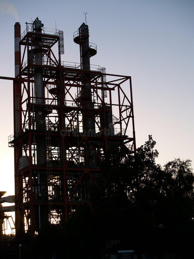Industrielles Schattenbild. lizenzfreies stockfoto