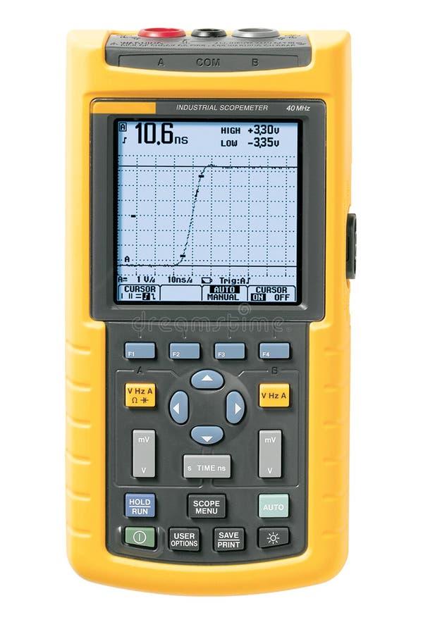 Download Industrielles scopemeter stockbild. Bild von kalibrierung - 9076793