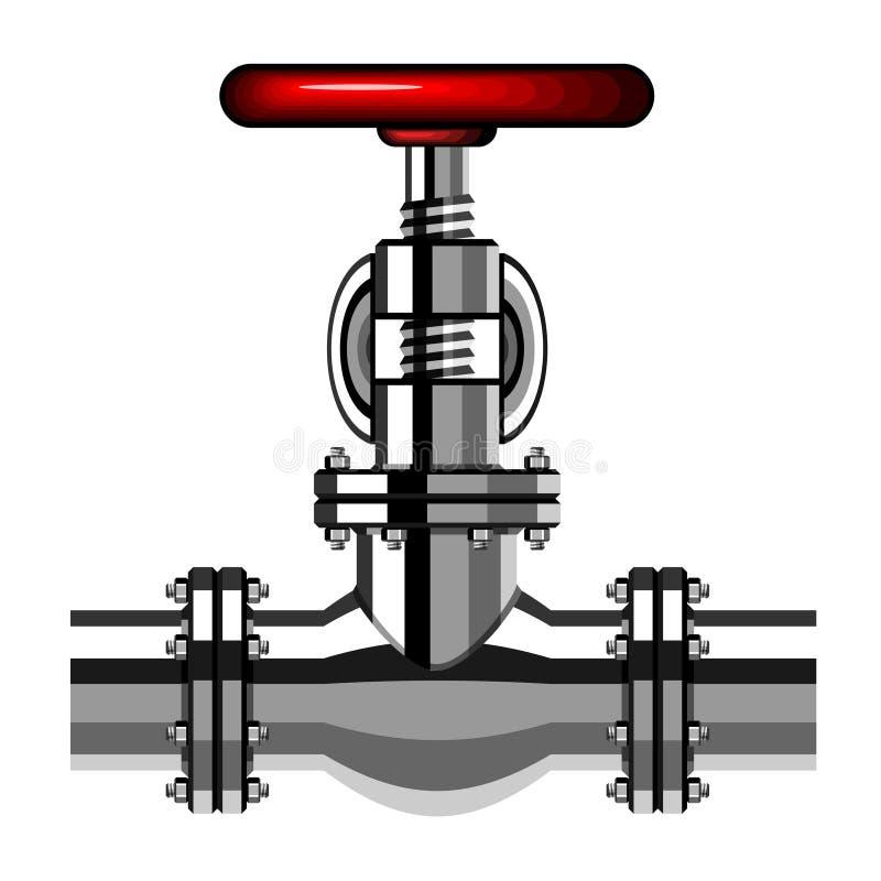 Industrielles Ventilchromrot vektor abbildung
