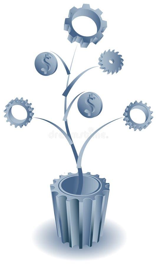 Industriellt affärsväxt stock illustrationer