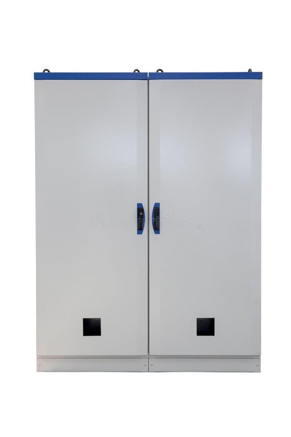 Industriellt elektriskt kabinett för metall arkivfoto