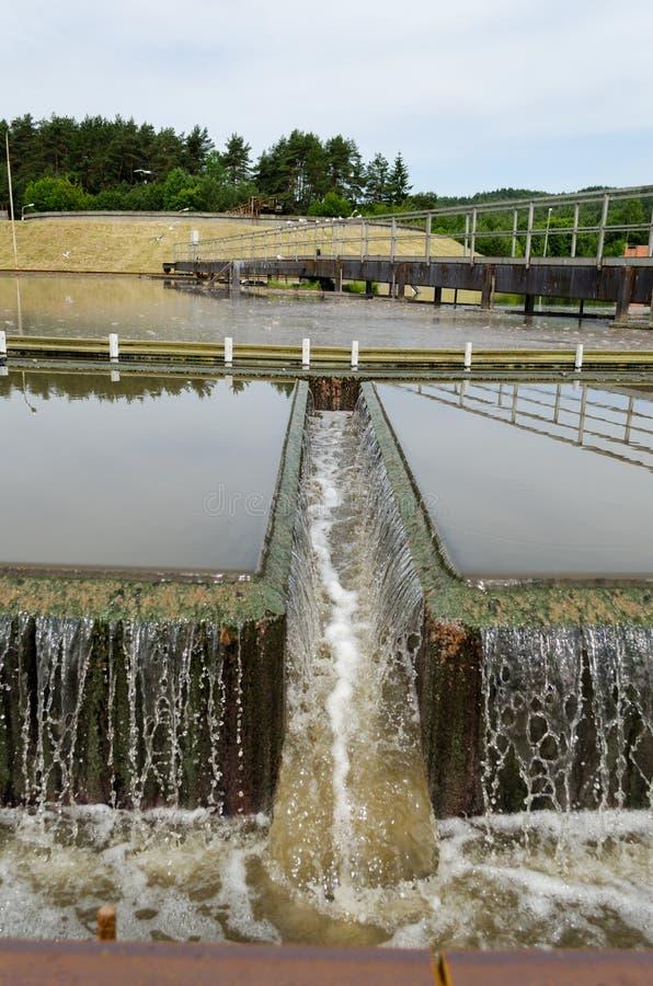 Industriellt filter för mekanism för kloakvattenbehandling arkivbild