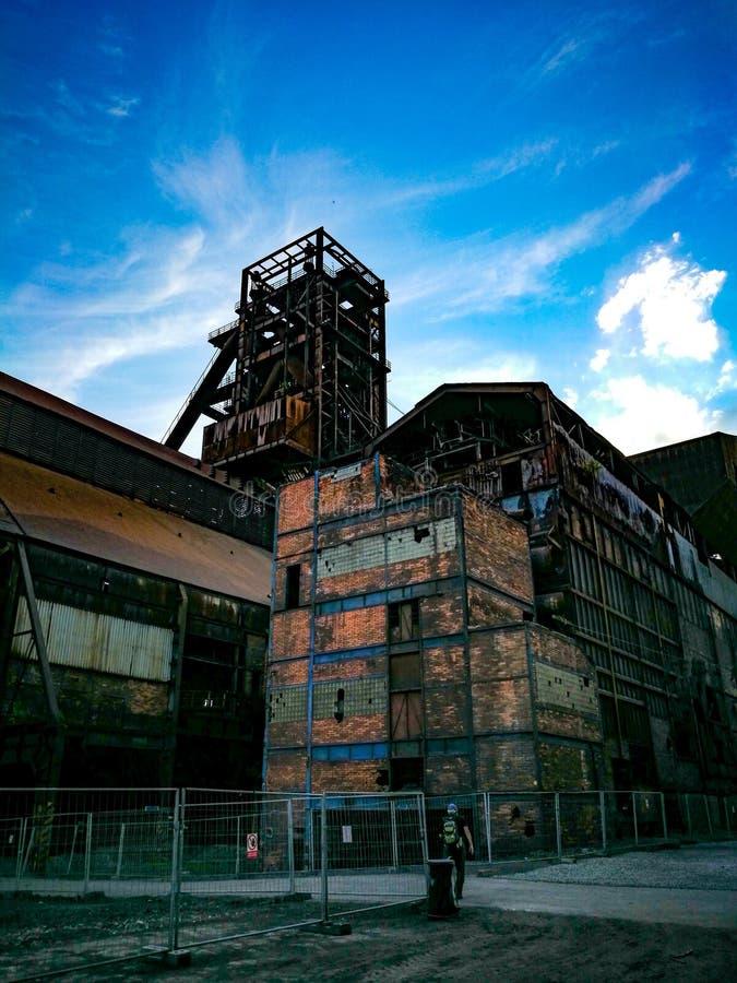 industriellt gammalt för fabrik royaltyfria bilder