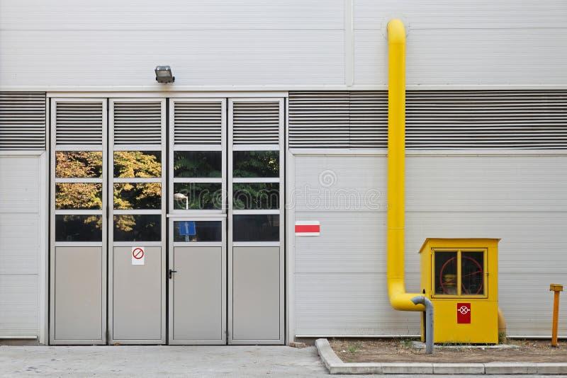 Industriellt gasa mäter arkivfoton