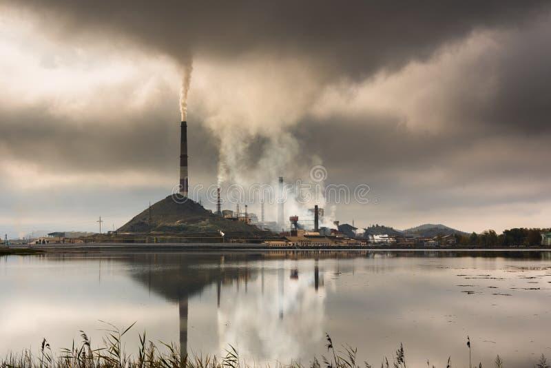 Industriellt landskap, Chelyabinsk region, Ryssland royaltyfri foto