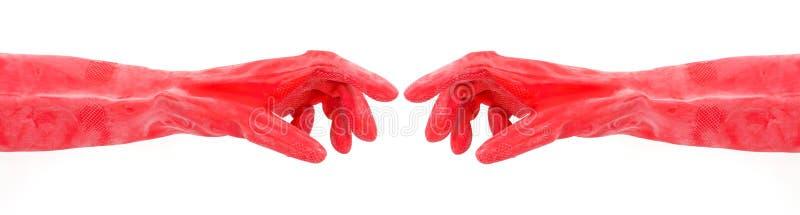 industriellt nästan plastic trycka på för handskar arkivfoto